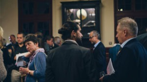 Networking moment during an Event Video