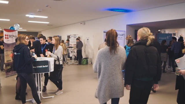 event video at job fair