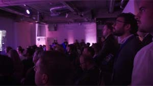 Viewers during a Berlin Start-up pitch competition