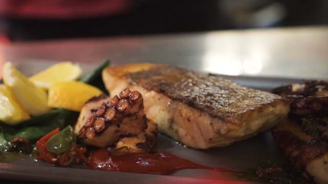 Fish Plate for the Promo Video of the Restaurant
