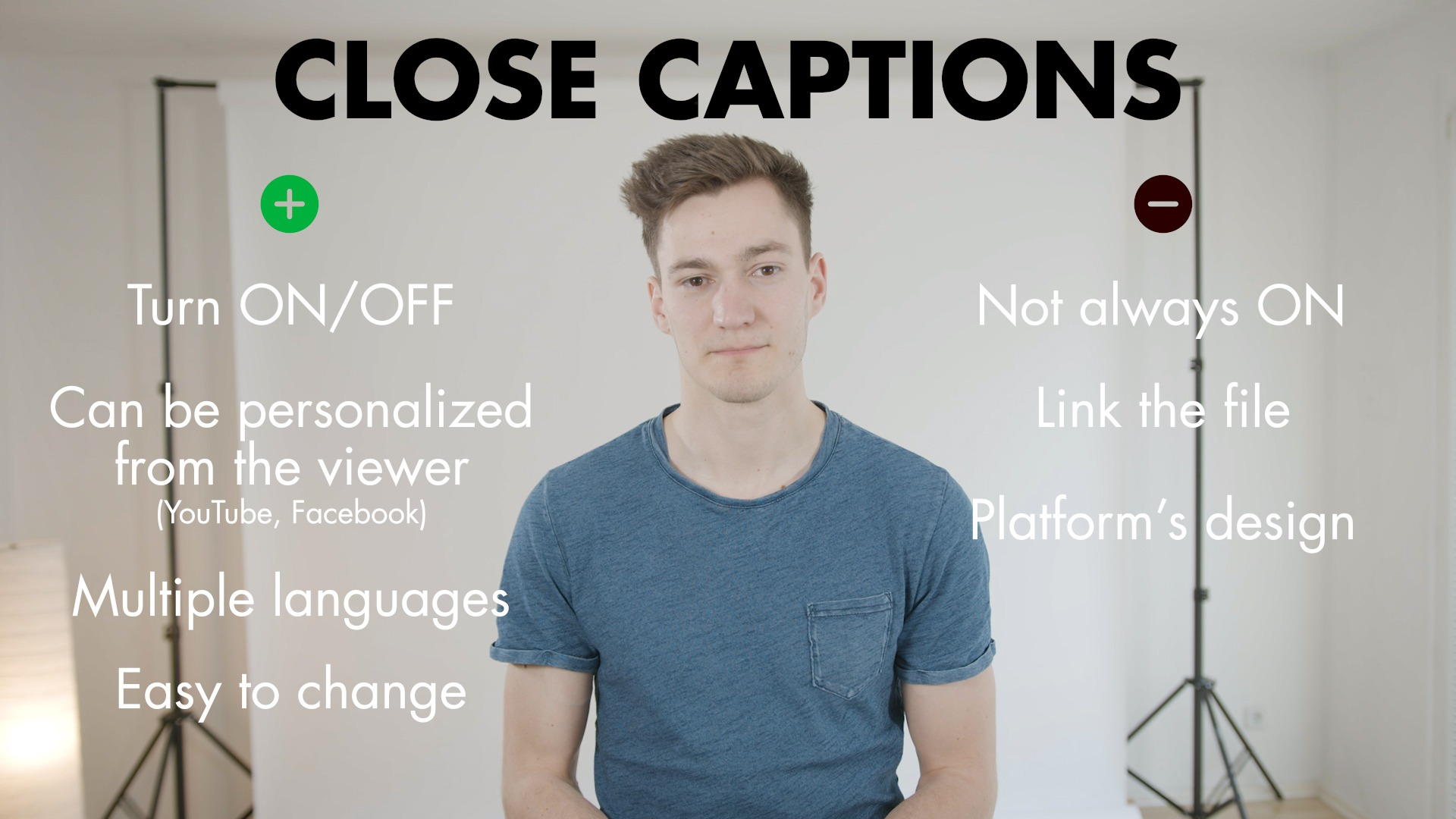Close Captions Tips Videographer
