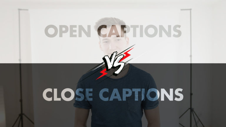 Open vs Close Captions Videographer Tips