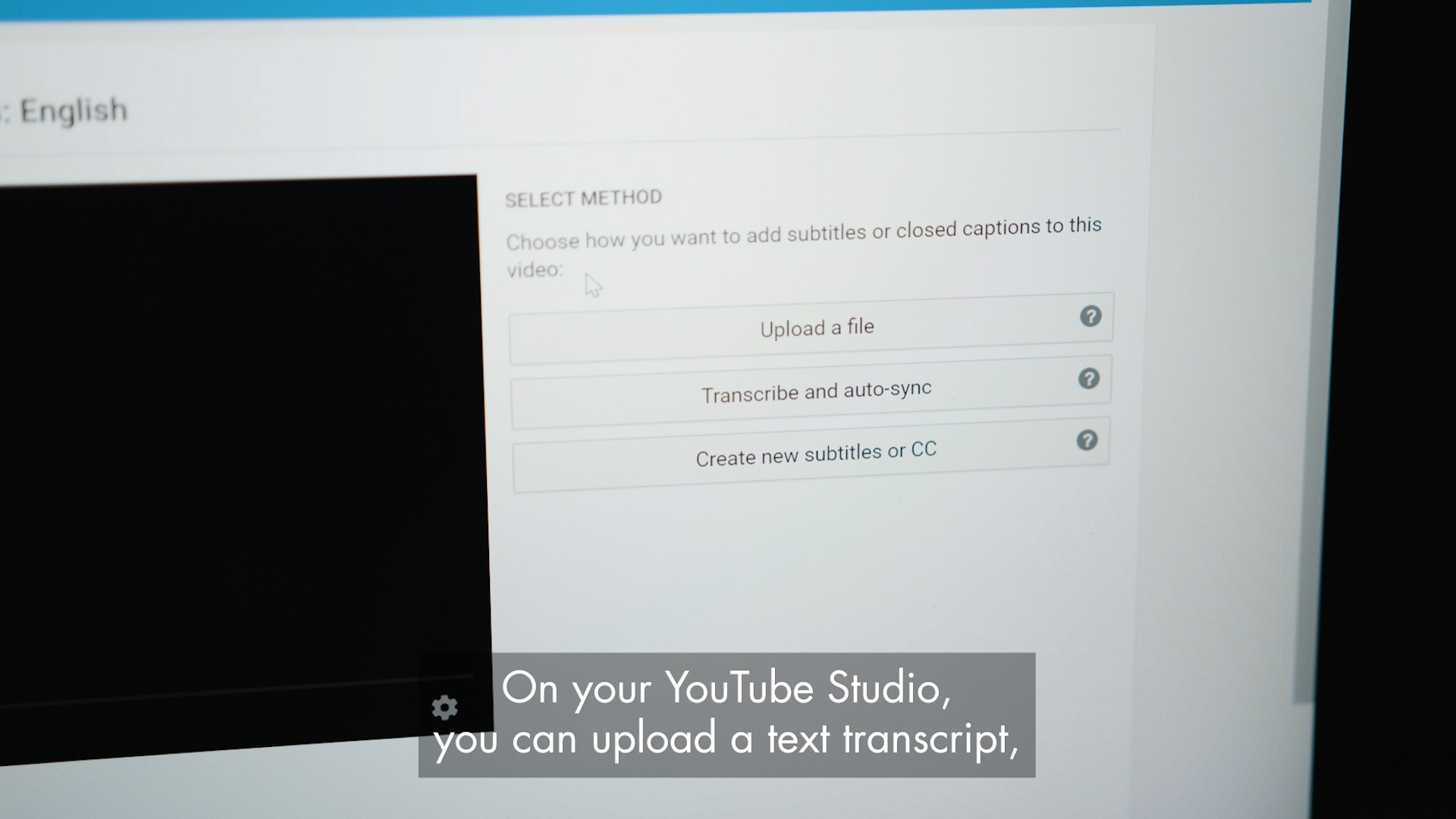 Using Youtube Studio for Subtitles