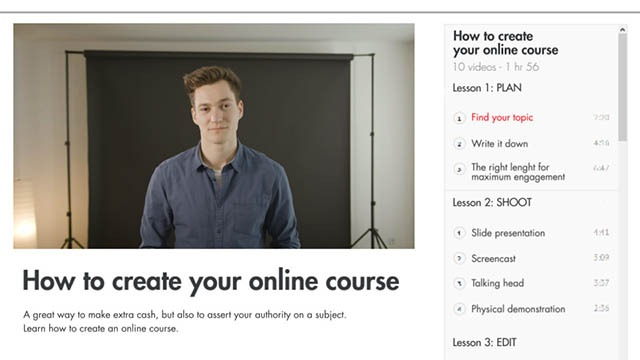 How to create your online course