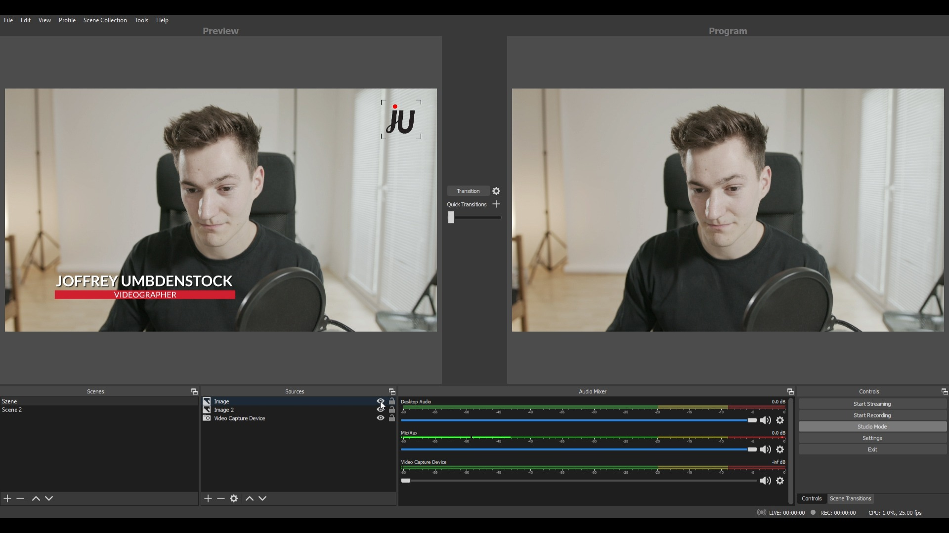 Livestreaming with OBS