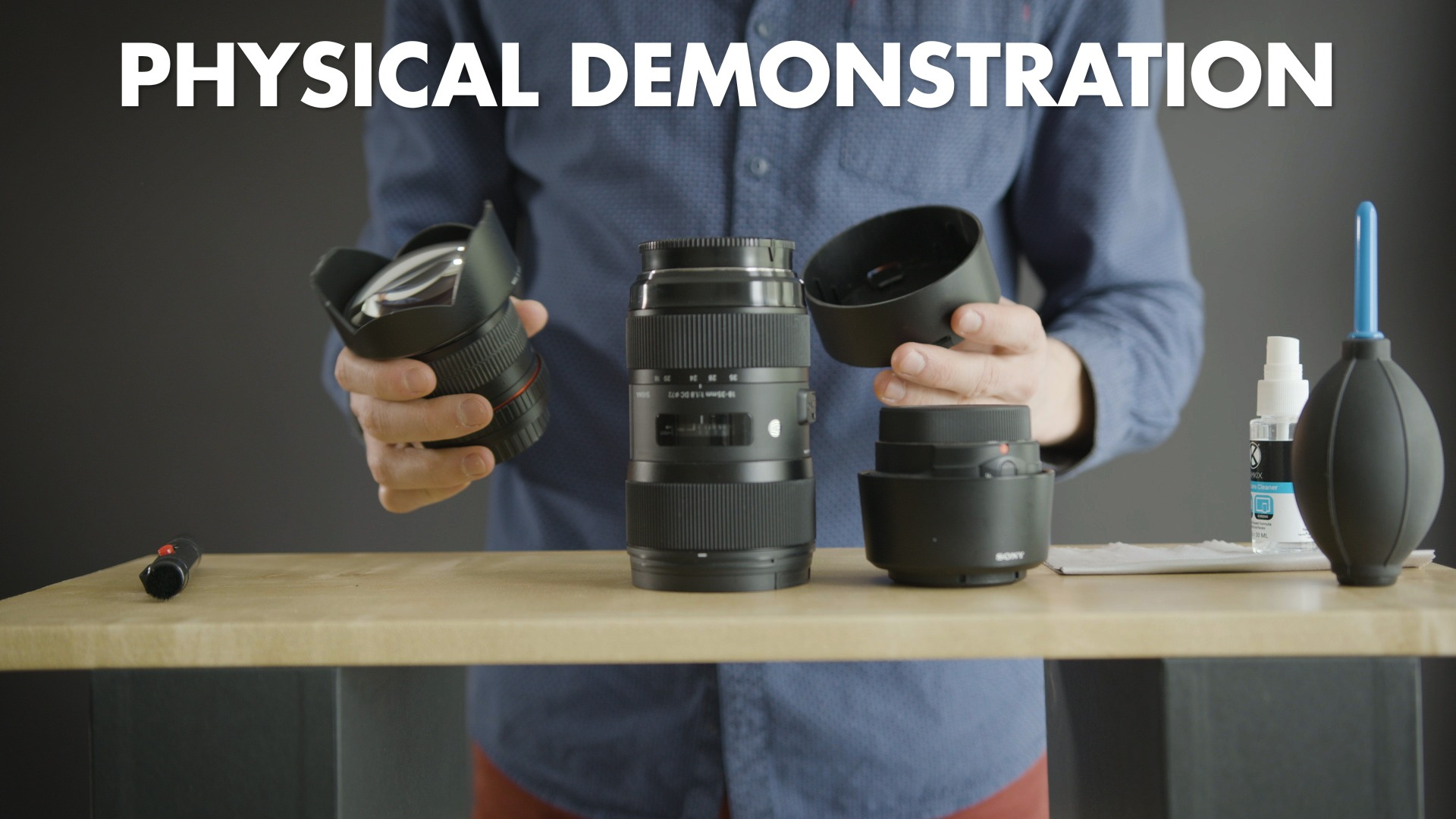 Film your Online course - Physical demonstration
