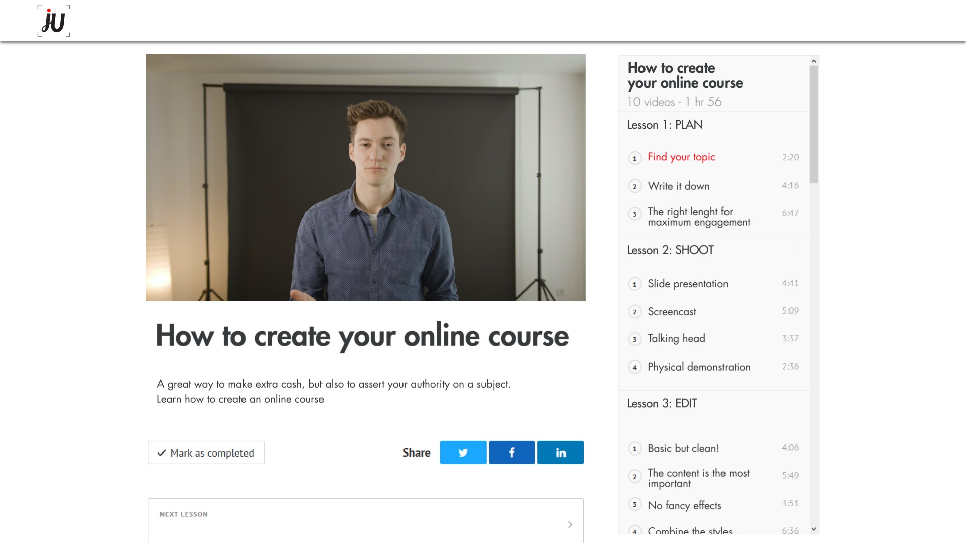 Promote your course