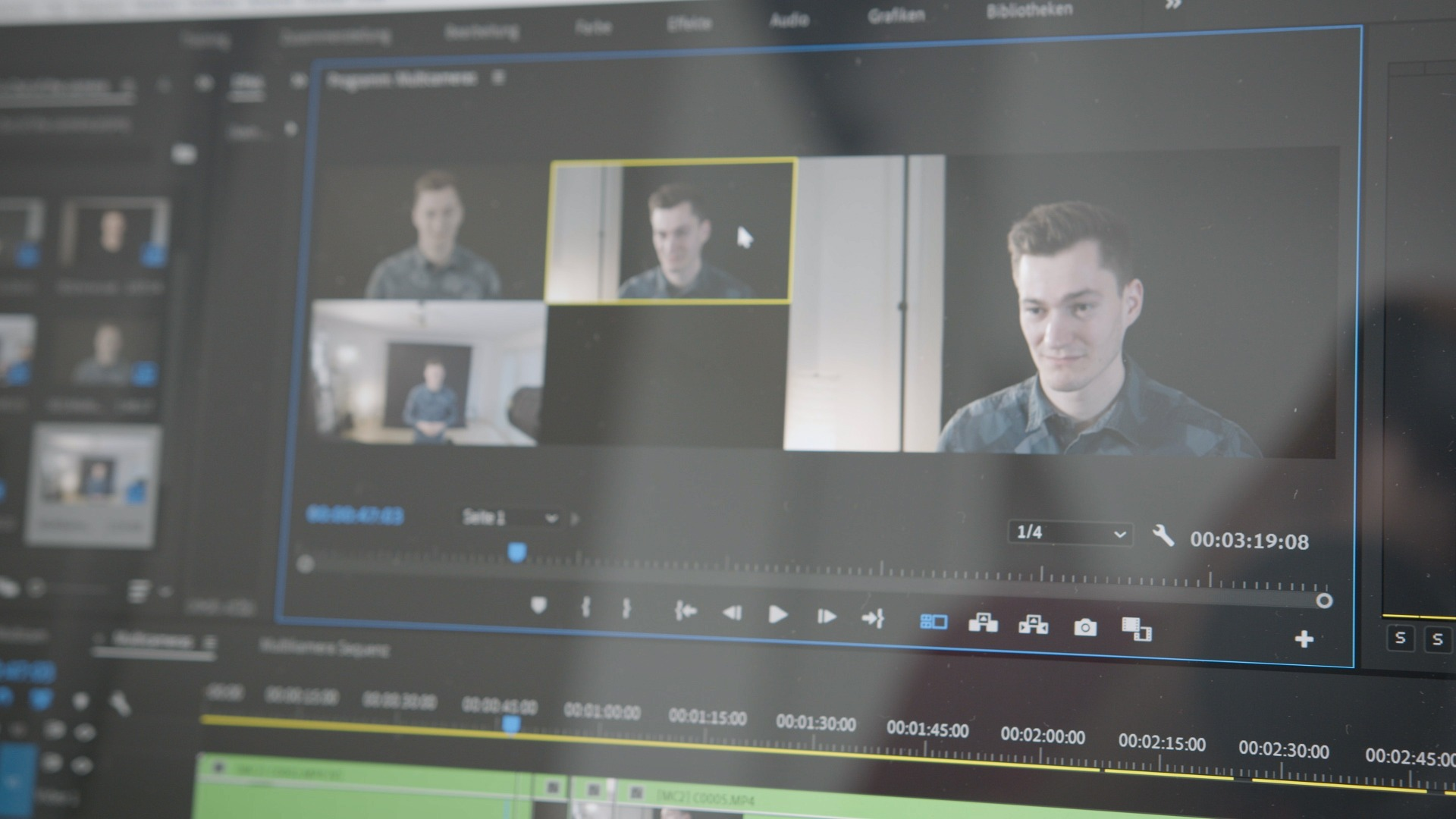 post-production multiple cameras premiere pro