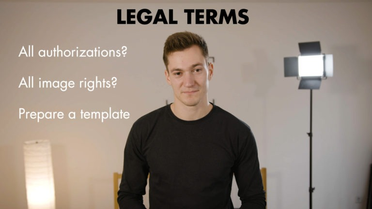Video SHooting preparation legal terms