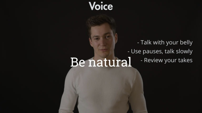 Be careful about your voice