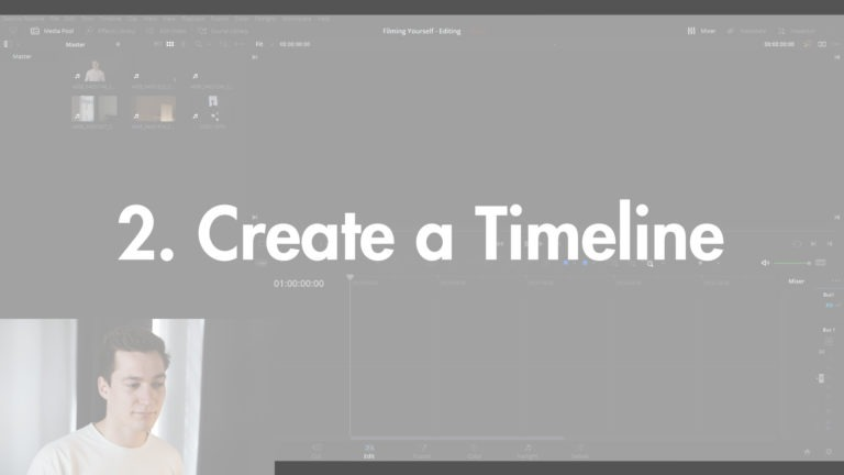 Creating a Timeline in DaVinci Resolve