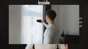 Filming inside in front of a window