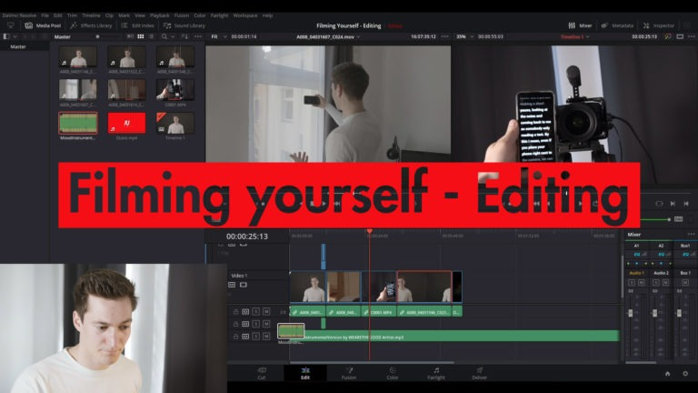 Filming Yourself Video Editing on DaVinci Resolve