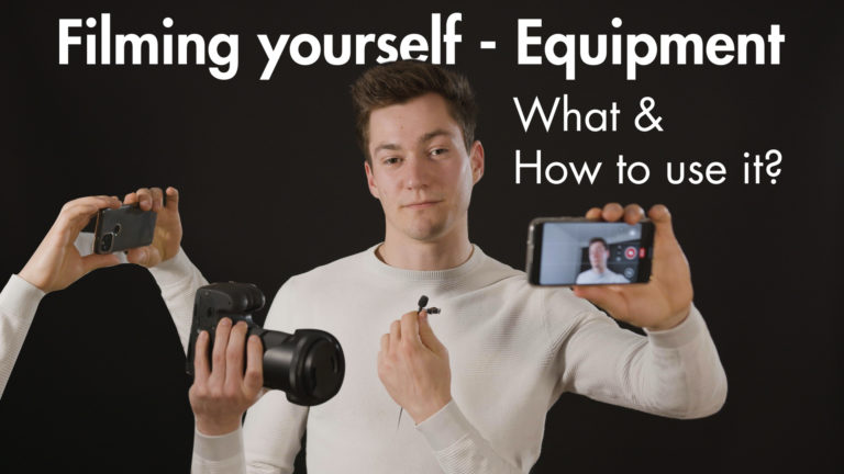 Filming yourself - what equipment videographer tips