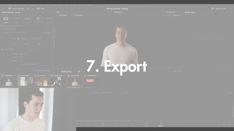 Video editing yourself - Export