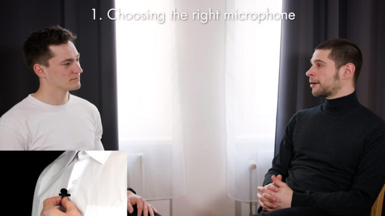 Interview about choosing the right microphone