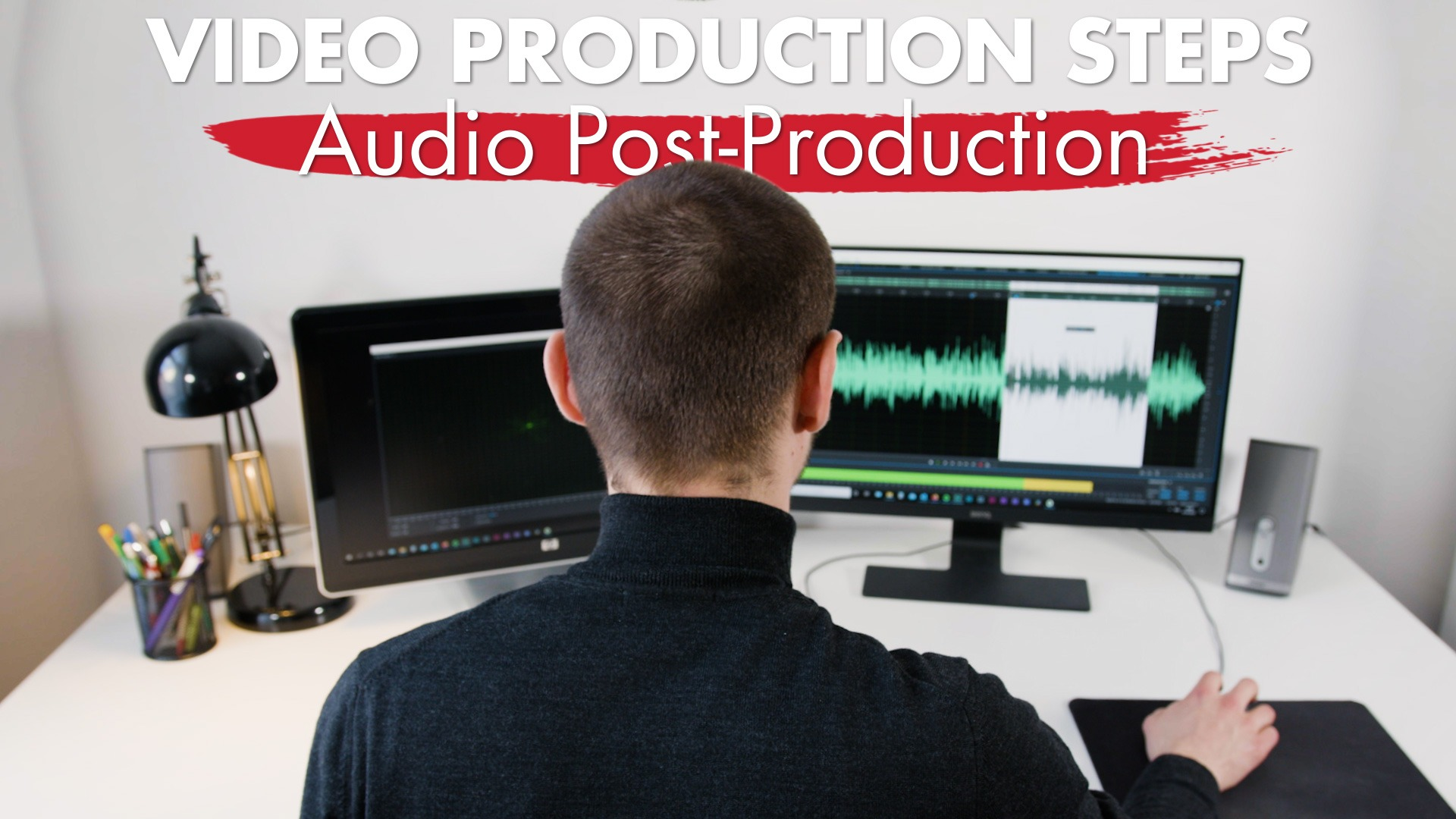 Audio engineer working in Post-Production