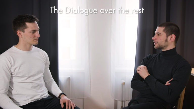 audio recording the dialogue over the rest